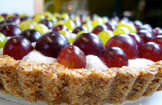♡ Rohköstliche Trauben-Tarte ♡ aus Rohköstliche Gourmet-Rezepte für Genießer