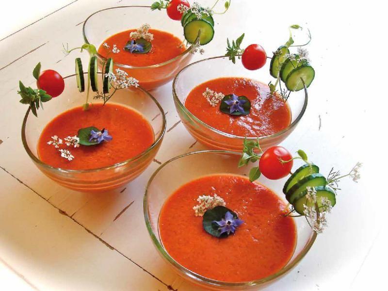 Gazpacho mit Aprikosen