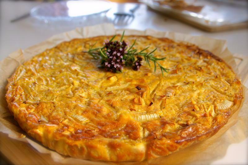 Zwiebelkuchen vegetarisch mit Chipotle