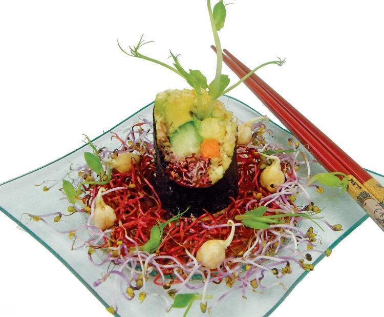 Raw Sushi für Veganer