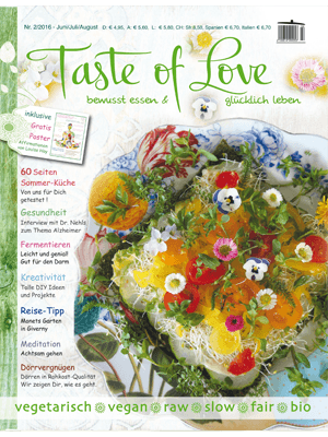 Taste of Love Magazin Juni|Juli|August