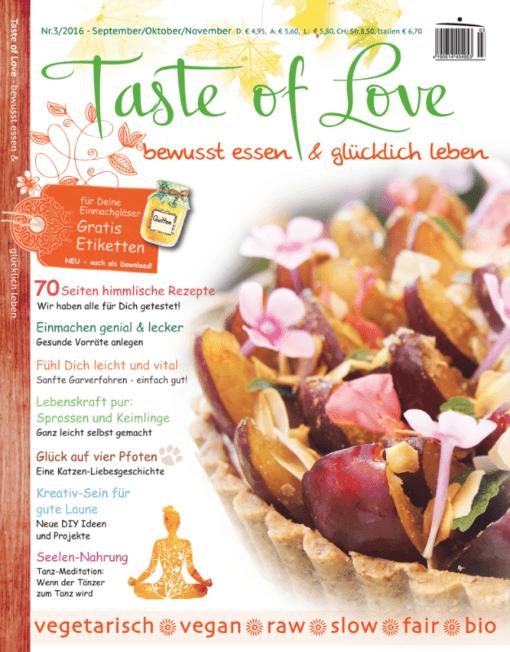 Taste of Love Magazin Cover 3-2016