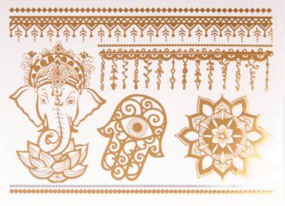 Tatoo Schutzsymbole Gold