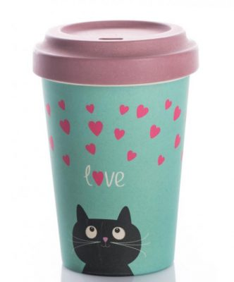 Chic Mic Bamboo Cup Kitty Love