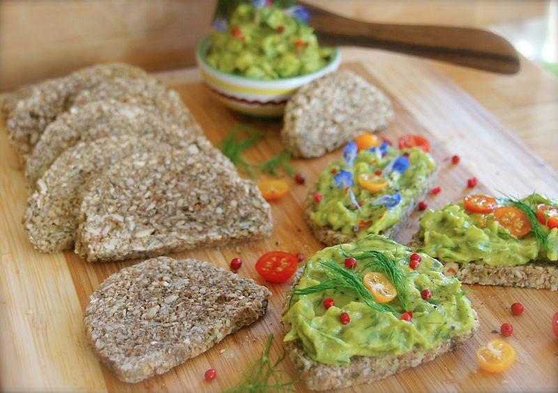Haferflocken-Kürbis-Mandel-Brot – ❀ RAW