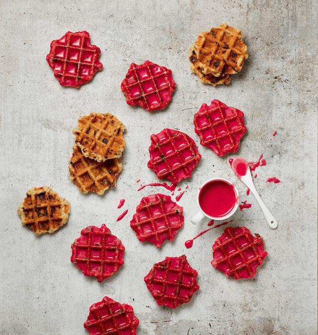 Waffel-Cookies mit Rote-Bete-Glasur