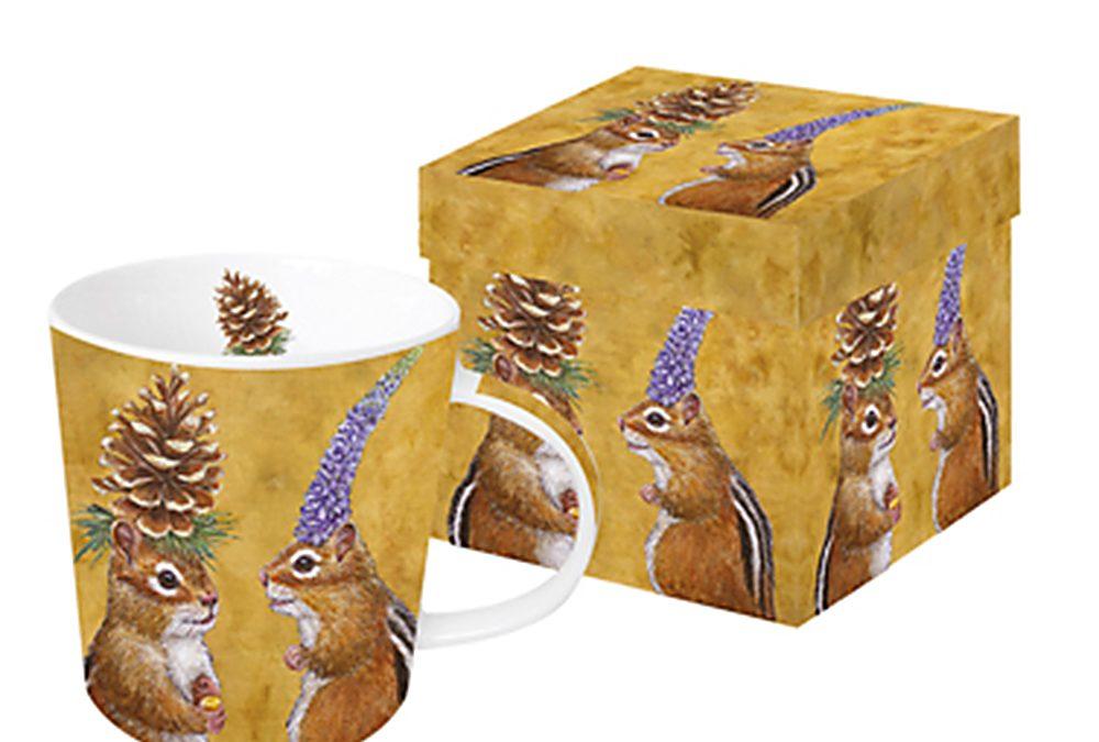 """Tasse Trend Mug Gift Box """"Chipmunk Courtship"""""""