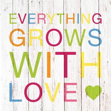 Lunch-Servietten Everything grows with Love Ein Päckchen Lunch-Servietten Everything grows with Love