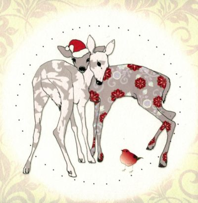 Briefkarten-Weihnachts-Set mit Swarovski Kristallen