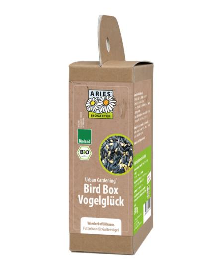 Bird Box Vogelglück – Wiederbefüllbares Futterhaus für Gartenvögel