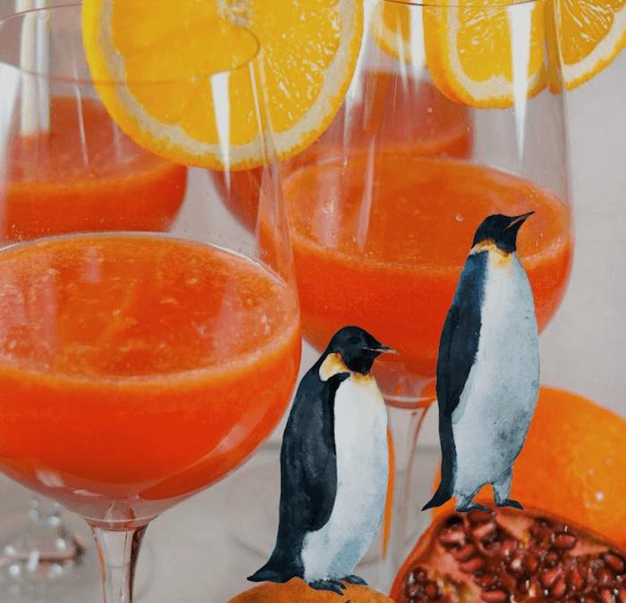 CHI-COCKTAIL Granatapfel-Orangen-Clementinen-Saft & Blüten-Chi