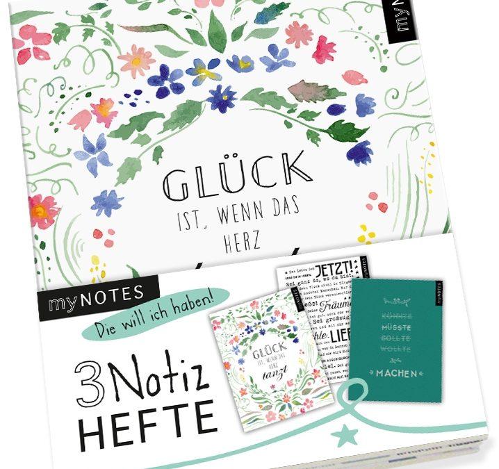 Buch-Tipp: myNOTES 3er-Pack Notizhefte: Glück ist …