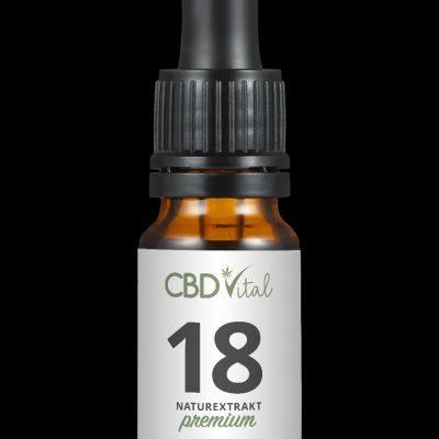 CBD Naturextrakt PREMIUM Öl 18% 10 ml