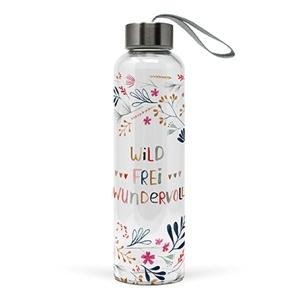 Glasflasche Wild, Frei, Wundervoll