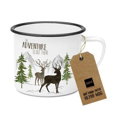 Adventure Deer white Metalltasse - Metal Mug