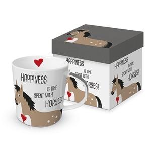 Tasse Trend Mug Happiness & Horses